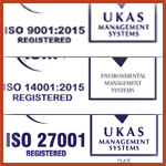 ACM ISO 9001 14001 27001 accreditations